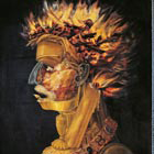 Fire, by Giuseppe Arcimboldi (1527 ca- 1593), oil on panel, © The British Library Board (11048399)
