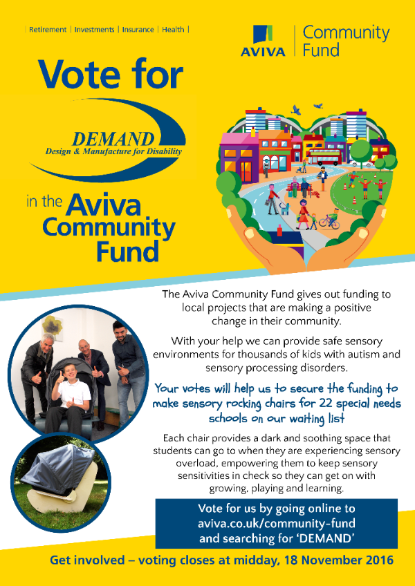 Vote for DEMAND in the Aviva Community Fund