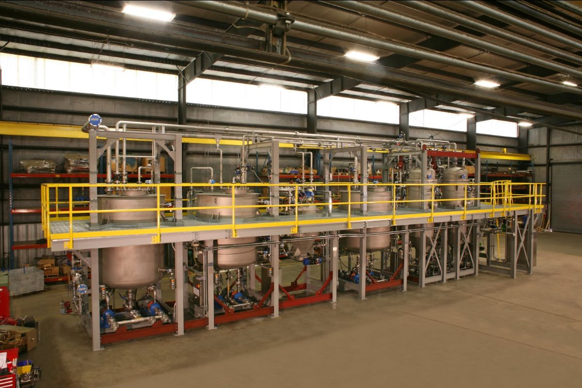 Turnkey Technology System:  Two BHS Concentrating Candle Filters Followed by the BHS Pressure Plate Filter for final filtration, cake washing and drying