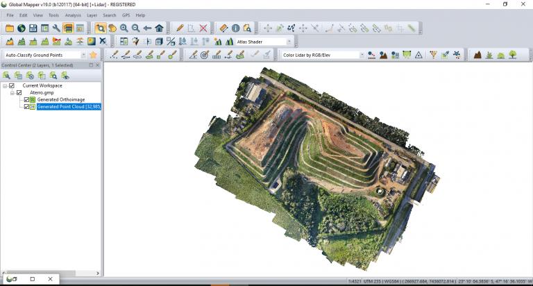 Imágenes Drone en Global Mapper + Lidar