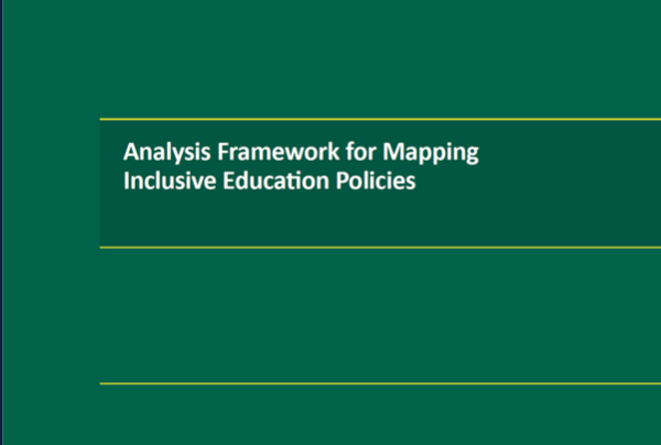 cover of the Analysis Framework for Mapping Inclusive Education Policies publication