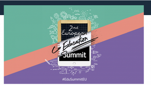 Second European Education Summit logo with hashtag Edu Summit EU