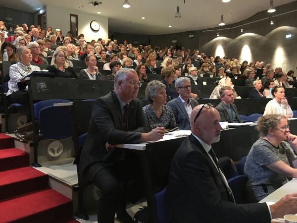 conference participants in Iceland