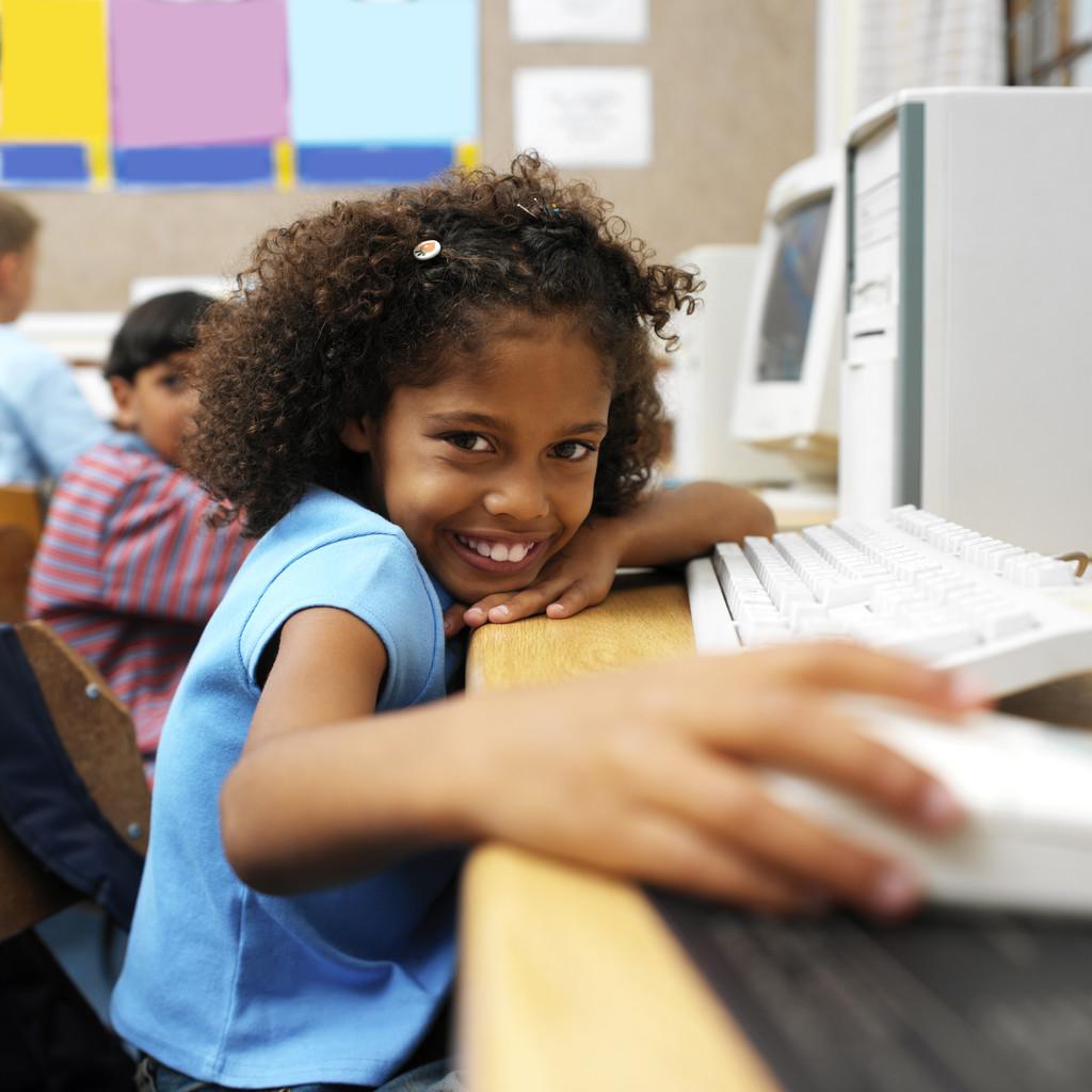 image of girl at computer