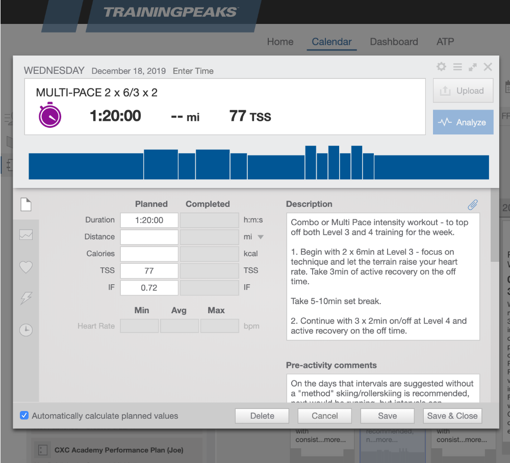TrainingPeaks Platform