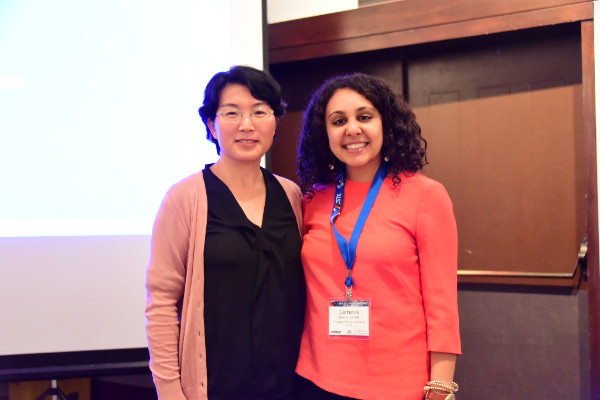 Photo caption: Dr. Shumei Yun (Missouri) and 2015 epidemiology program mentee, Ms. Lamees El-Sadek (Mississippi), 2015 CSTE Annual Conference, Boston, MA
