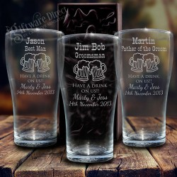 Engraved Conical Beer Glass 425ml