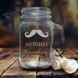 Engraved 490ml Mason Jar Wedding Redneck Glass