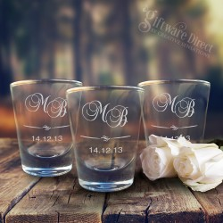 Engraved 50ml Boston Shot Glass Favours SPECIAL