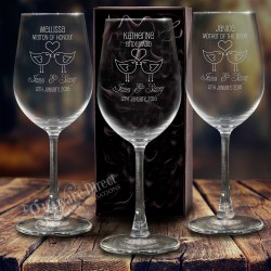 Engraved 215ml Champagne Wedding Glasses Personalised