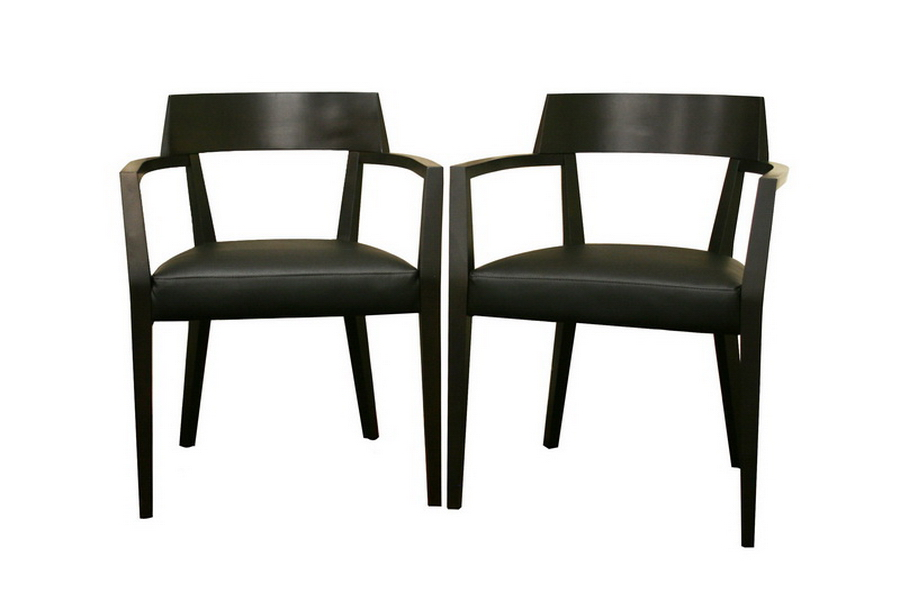 Baxton Studio Laine Wenge Wood and Faux Leather Modern Dining Chair ORG $137 SALE PRICE $123