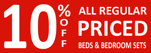 Save 10% off beds and bedroom sets