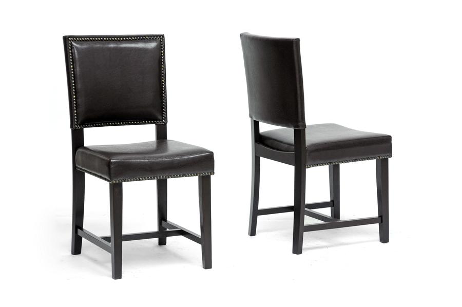 Baxton Studio Nottingham Brown Modern Dining Chair