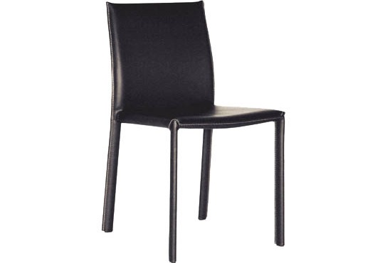 Baxton Studio Crawford Black Leather Dining Chair with Black Leather Legs ORG $98 SALE PRICE $88