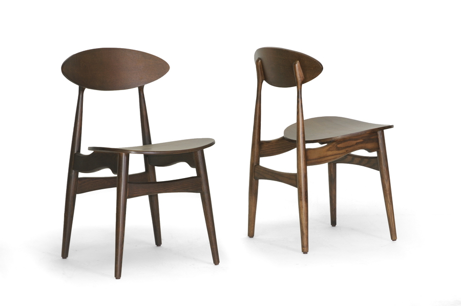 Baxton Studio Ophion Brown Wood Modern Dining Chair ORG $193 SALE PRICE $174