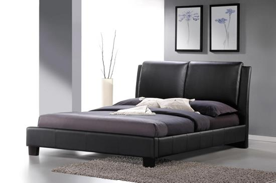 Baxton Studio Sabrina Black Modern Bed with Overstuffed Headboard - Full SizeORG $276 SALES PRICE $248