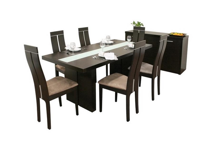 Baxton Studio Magness Dark Brown 8 Piece Modern Dining Set ORG $1041 SALE PRICE $833