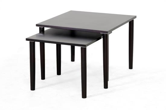 Baxton Studio Shaffer Dark Brown Modern Nesting Table SetORG: $121 SALE PRICE:$109