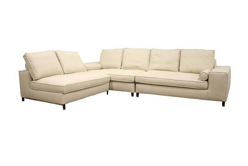 Baxton Studio Amy Cream Fabric Modular Sectional Sofa ORG $995 SALE PRICE $796