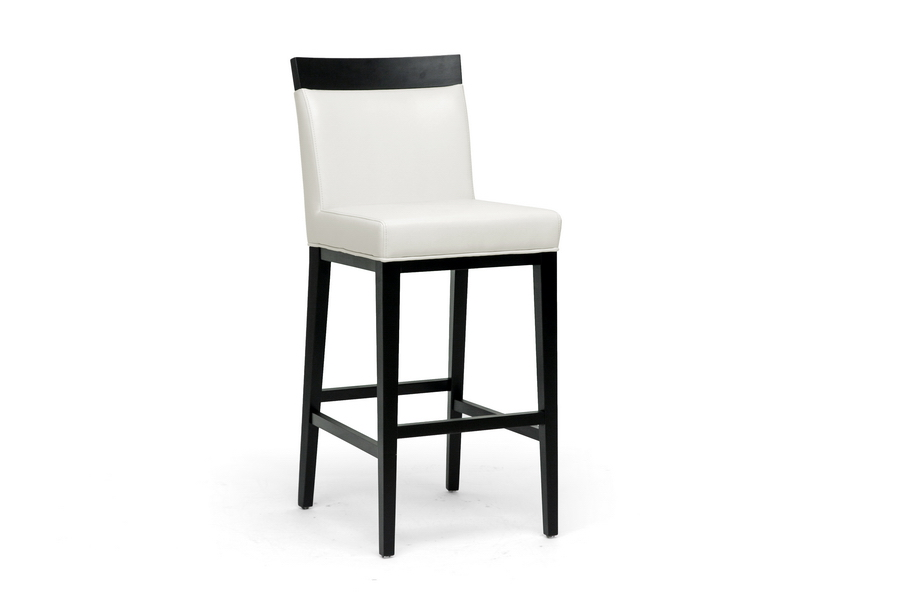 Baxton Studio Clymene Black and Leather Bar Stool ORG $148 SALE $133
