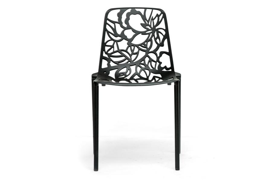 Baxton Studio Demeter Black Metal Dining Chair Set of 2 ORG $161 SALE PRICE $145
