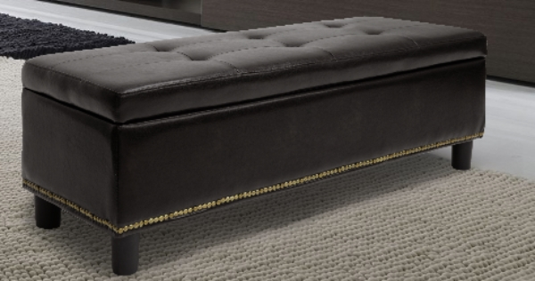 Storage Bench Ottoman Brown Or Black Y-170-dark brown-OTTO/ Y-170 Black-OTTO ORG $99 SALE PRICE $79