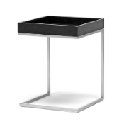 Baxton Studio Loni Black Wood Tray Top End Table with Silver Metal C BaseORG: $60 SALE PRICE:$54