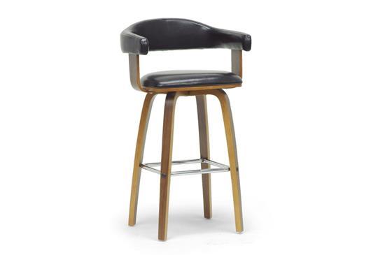 Baxton Studio Quigley Walnut and Black Modern Counter StoolORG $108 SALE PRICE $97