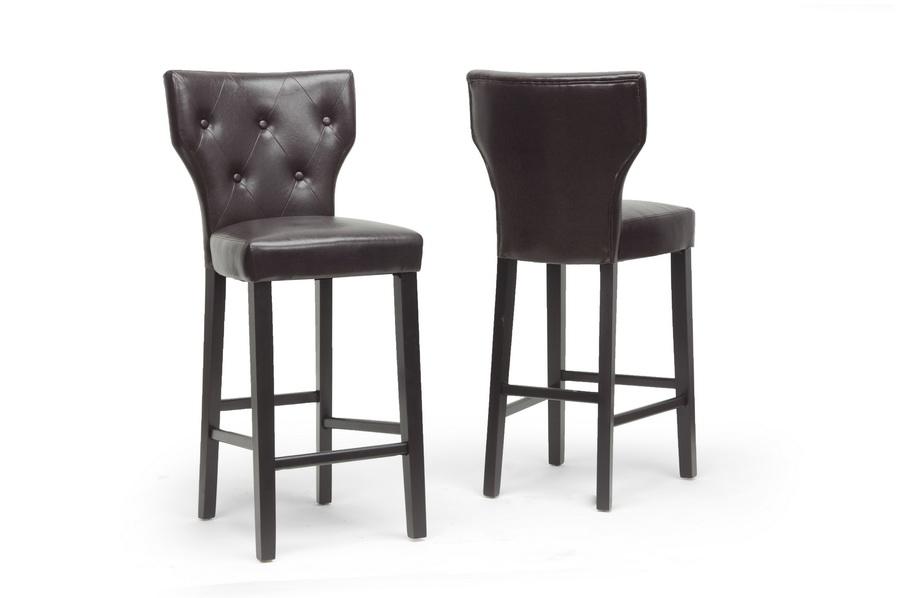 Baxton Studio Billings Dark Brown Modern Bar Stool (2) ORG $164 SALE $148