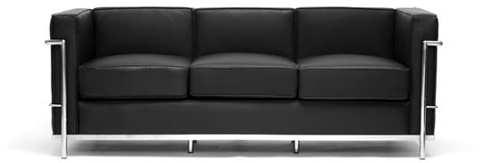 Le Corbusier Petite Sofa in Black ORG $772     SALE PRICE $618