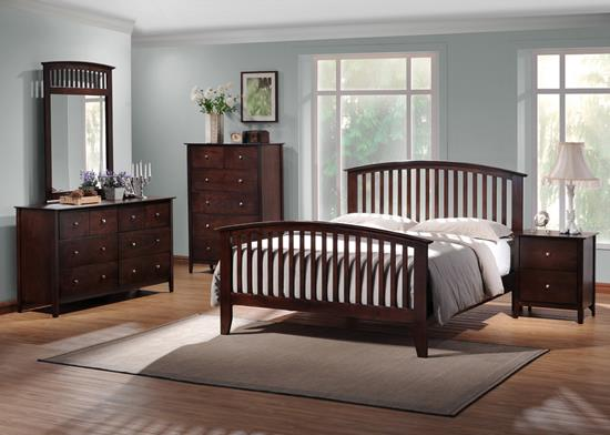 Baxton Studio Metropolitan Queen 5 Piece Wooden Modern Bedroom Set ORG: $658.00 SALE PRICE $592