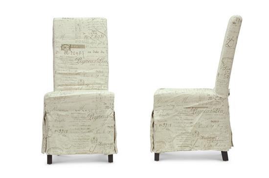 Baxton Studio Picard French Script Beige Linen Modern Dining Chair (Set of 2) ORG $158 SALES PRICE $142
