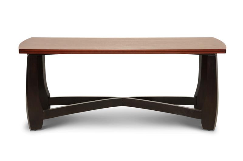 Baxton Studio Straitwoode Cherry/Brown Coffee Table ORG: $150 SALE PRICE:$120