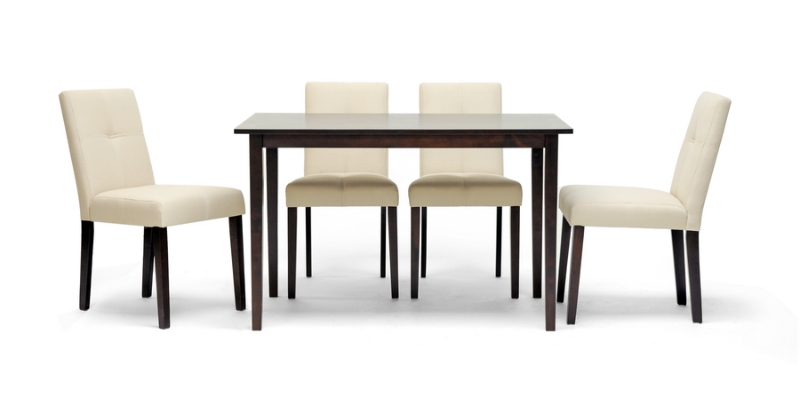 Baxton Studio Elsa Brown Wood 5-Piece Modern Dining Set ORG $340 SALE PRICE $306