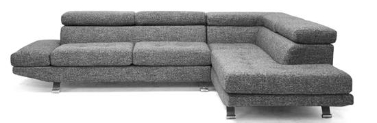 Baxton Studio Adelaide Gray Twill Fabric Modern Sectional Sofa1159ORG $SALE $1043
