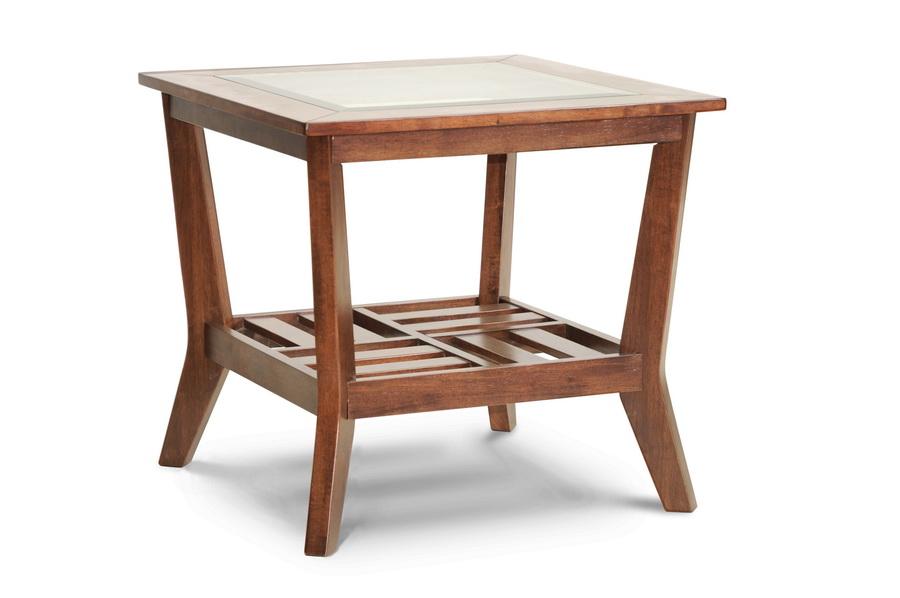 Baxton Studio Kislear Honeyed Veneer Modern End Table