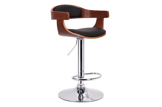 Baxton Studio Garr Walnut and Black Modern Bar Stool ORG $90 SALE PRICE $81