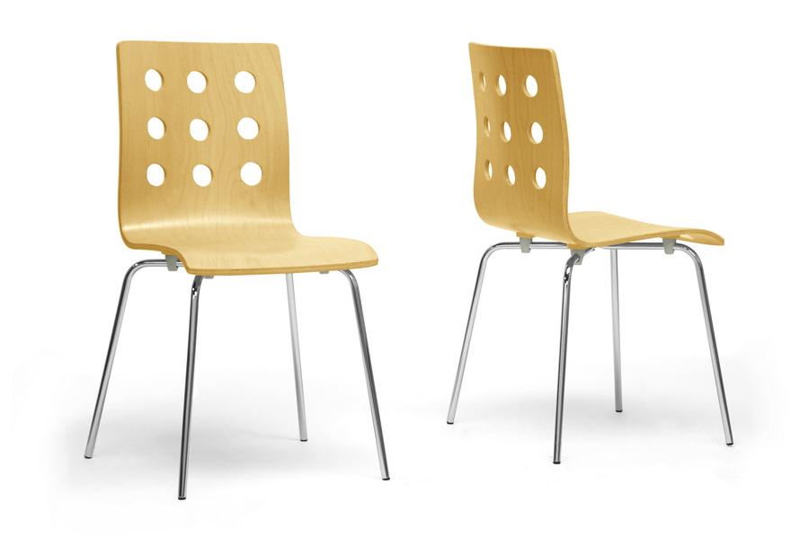 Baxton Studio Celeste Birch Dining Chair (Set of 2) ORG $84 SALE PRICE $67