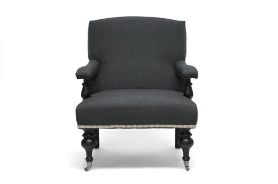 Baxton Studio Galway Gray Linen Arm Chair ORG $307 SALES PRICE $276