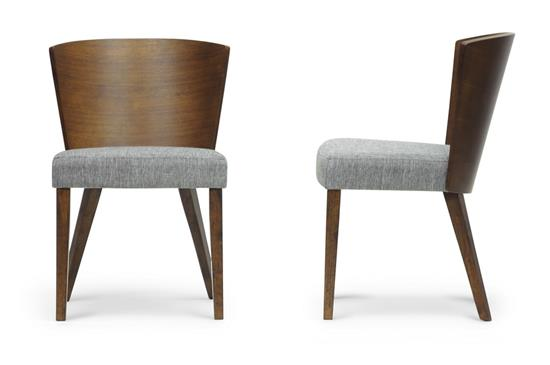 Baxton Studio Sparrow Brown Wood Dining Chair (Set of 2) ORG $204 SALE PRICE $184