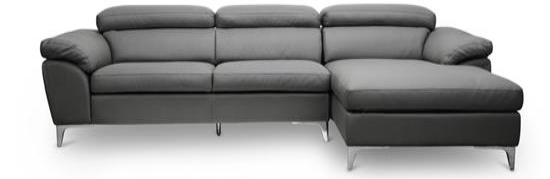 Baxton Studio Voight Gray Modern Sectional Sofa ORG $1,104.00 SALE $994