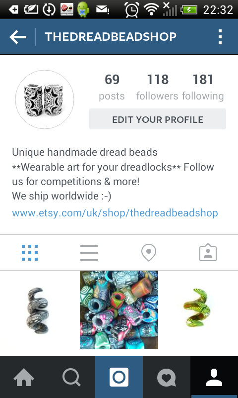The dread bead shop on instagram