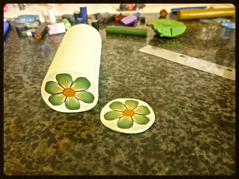 Finished green flower cane