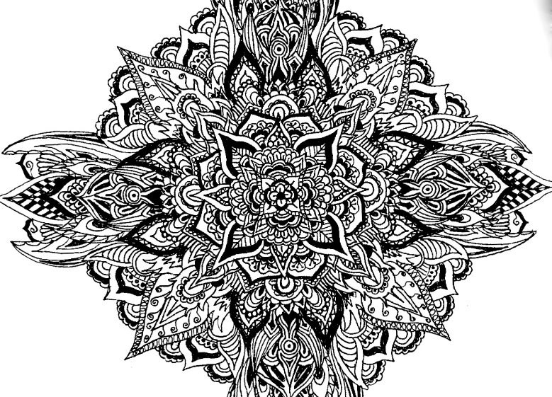 Intricate Mandala Drawing by Supremily