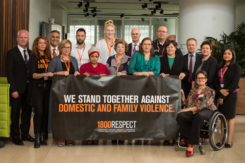 We stand together against domestic and family violence 1800RESPECT