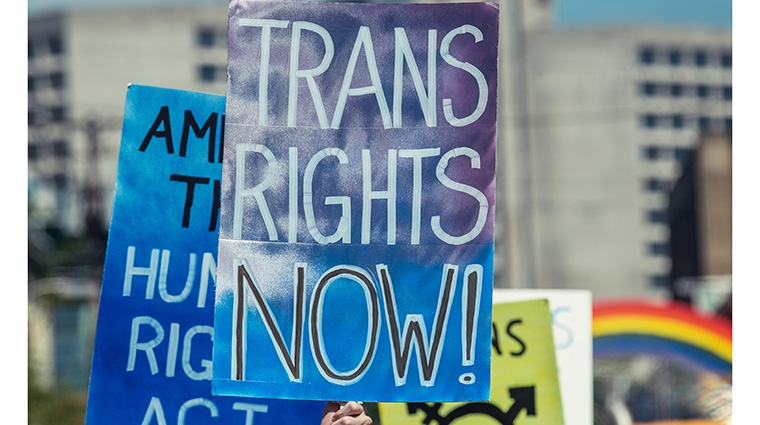 Trans Rights Now (stock photo from iStock)