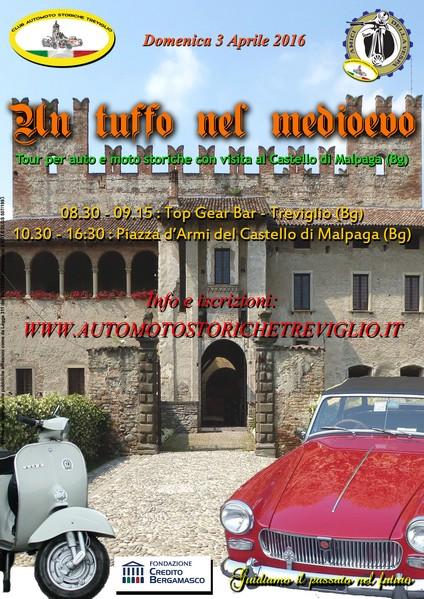 Moto e auto storiche al castello di Malpaga