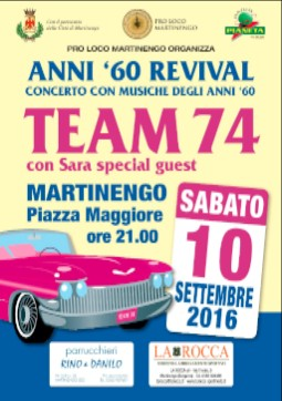 Martinengo, Concerto TEAM 74