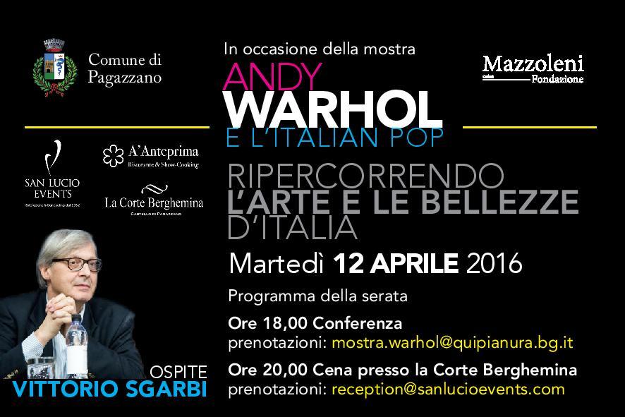 Conferenza alla mostra di Andy Warhol
