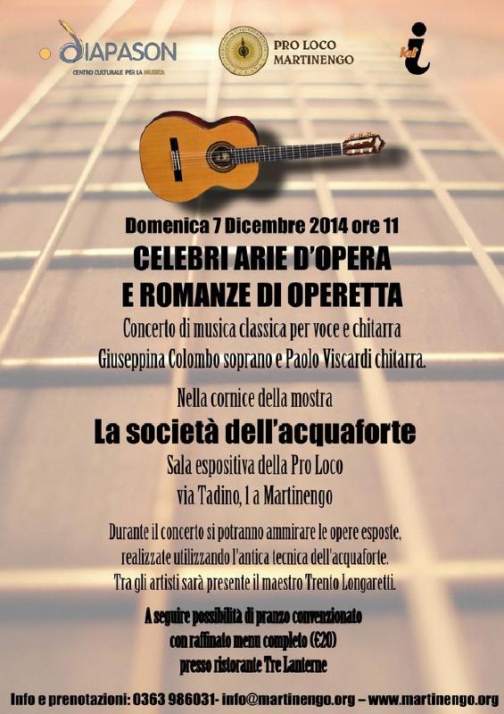 concerto di musica classica per voce e chitarra